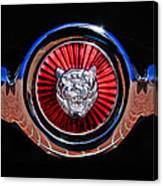1967 Jaguar E-type Series I 4.2 Roadster Grille Emblem Canvas Print