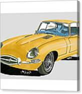 1967 Jaguar X K E Coupe Canvas Print