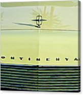 1967 Lincoln Continental Grille Emblem - Hood Ornament Canvas Print