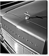 1967 Lincoln Continental Hood Ornament - Emblem -646bw Canvas Print
