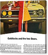 1967 Plymouth Gtx - Goldilocks And The Two Bears. Canvas Print