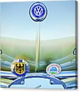 1967 Volkswagen Vw Karmann Ghia Hood Emblem Canvas Print