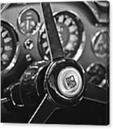 1968 Aston Martin Steering Wheel Emblem Canvas Print