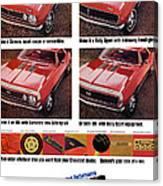 1968 Chevy Camaro Canvas Print