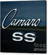 1968 Chevy Camaro Ss Logo Canvas Print