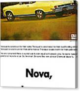 1968 Chevy Nova - The Great Equalizer Canvas Print