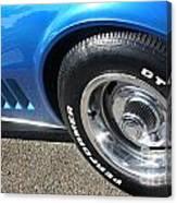 1968 Corvette Sting Ray - Blue - Side - 8923 Canvas Print