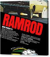 1968 Dodge Charger R/t - Ramrod Canvas Print