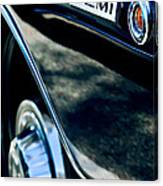 1968 Dodge Charger Rt Coupe 426 Hemi Upgrade Emblem Canvas Print