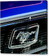 1968 Ford Mustang Cobra Gt 350 Grille Emblem Canvas Print