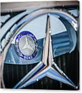 1968 Mercedes-benz 280 Sl Roadster Emblem -0919c Canvas Print