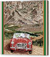 Mountain Rallying In A 1968 M G B  Canvas Print