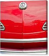 1968 Volkswagen Karmann Ghia Convertible Hood Emblem Canvas Print