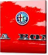 1969 Alfa Romeo Spider Veloce Iniezione Emblem Canvas Print