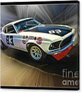 1969 Boss 302 Mustang Canvas Print