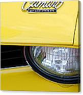 1969 Chevrolet Camaro Emblem -0241c Canvas Print
