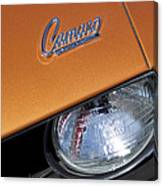 1969 Chevrolet Camaro Headlight Emblem Canvas Print