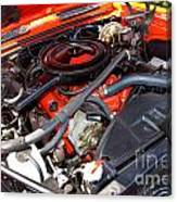1969 Chevrolet Camaro Rs - Orange - 350 Engine - 7567 Canvas Print
