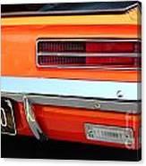 1969 Chevrolet Camaro Rs - Orange - Rear End - 7609 Canvas Print