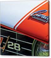 1969 Chevrolet Camaro Z-28 Emblem Canvas Print