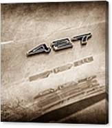 1969 Chevrolet Corvette 427 Emblem Canvas Print