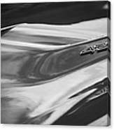1969 Chevrolet Corvette Roadster 427 Hood Emblem -0654bw Canvas Print