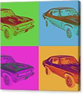 1969 Chevrolet Nova Yenko 427 Muscle Car Pop Art Canvas Print