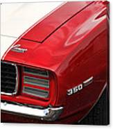 1969 Chevy Camaro Rs Canvas Print