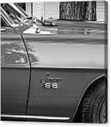 1969 Chevy Camaro Ss 396 Painted Bw Canvas Print