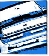 1969 Chevy Camaro Ss - Blue Negative Canvas Print