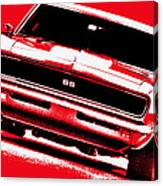 1969 Chevy Camaro Ss - Red Canvas Print