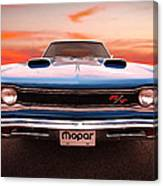 1969 Dodge Coronet R/t In B5 Blue Canvas Print