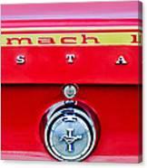 1969 Ford Mustang Mach 1 Rear Emblems Canvas Print