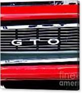 1969 Gto Grill Canvas Print