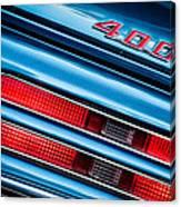 1969 Pontiac 400 Firebird Convertible Taillight Emblem -0029c Canvas Print