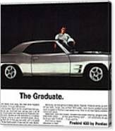 1969 Pontiac Firebird 400 - The Graduate Canvas Print
