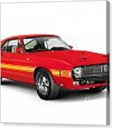 1969 Shelby Cobra Gt 500 Retro Sports Car Canvas Print