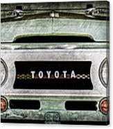1969 Toyota Fj-40 Land Cruiser Grille Emblem -0444ac Canvas Print