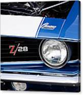 1969 Z28 Camaro Real Muscle Car Canvas Print