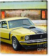 1970 Boss 302 Mustang Canvas Print