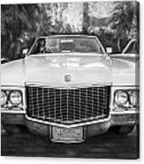1970 Cadillac Coupe Deville Convertible Painted Bw Canvas Print