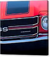 1970 Chevrolet El Camino Ss Grille Emblem Canvas Print