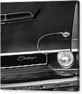 1970 Dodge Challenger T/a In Black And White Canvas Print