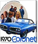 1970 Dodge Coronet 500 Canvas Print