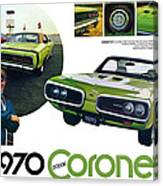 1970 Dodge Coronet R/t Canvas Print