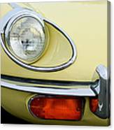 1970 Jaguar Xk Type-e Headlight Canvas Print