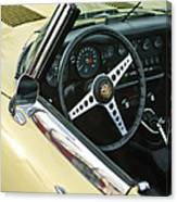 1970 Jaguar Xk Type-e Steering Wheel Canvas Print