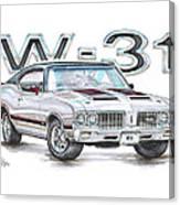 1970 Oldsmobile W-31 Canvas Print