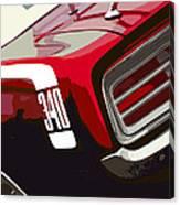 1970 Plymouth Barracuda 'cuda 340 Canvas Print