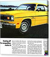 1970 Plymouth Duster 340 Canvas Print